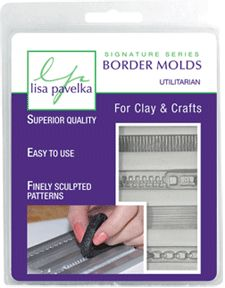 Border Molds for Clay & Crafts.. there's a zipper one.  I want it.