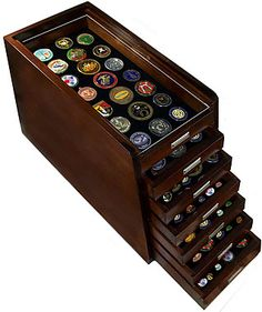 Military Coin Displays - Display Case - Display Cases made of Plastic Acrylic Plexiglass Lucite Glass Wood