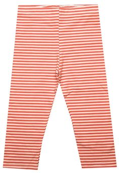 Orange   White Stripe Organic Capri Leggings