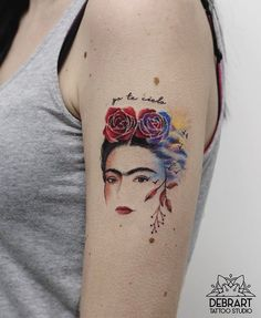 Frida Kahlo! 🌺🌹🌺 #frida#fridakahlo#friducha#fridatattoo#fridakahlotattoo#watercolor#watercolortattoo#flowers#mexico#art#artist#femaletattooartist#femaleartist#beauty#up#equilattera#amazing#inlove#colorfultattoo#colorful#tattooartist#famous#painting#painter#love#life#quotes
