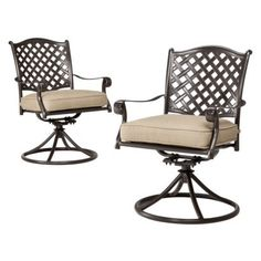 Target Home™ Villa 2-Piece Metal Patio Cushioned Motion Dining Chair Set.Opens in a new window