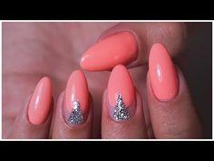 Коррекция НАРОЩЕННЫХ ногтей под Гель Лак/ Простой Дизайн - YouTube