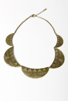 Cute. Geometric Half Moon Necklace from A-thread. Just $19.00