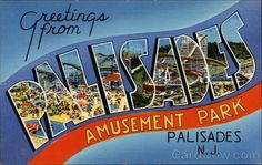 Palisades Amusement Park- this really needs a 1960's board but that would be to depressing to know I visited Palisades in the 60's