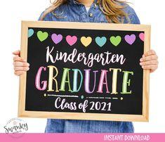 Kindergarten Graduation Sign Printable Kindergarten Graduate   Etsy