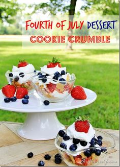 fourth of july dessert cookie crumble dessert