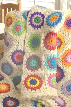 made from the sunburst granny pattern