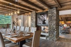 Chalet Queen Mijane - Meribel #interiordesign #decoration #architecture Chalet Interior, Interior Exterior, Best Interior, Chalet Design, House Design, Interior Rendering, Interior Design, Deco Restaurant, Fancy Houses