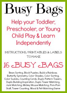Busy Bags & Quiet Time Activities - All Our Days