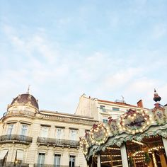 The end of a beautiful #autumn day and the prettiest traditional #carousel in #montpellier #southoffrance #madefromscratch