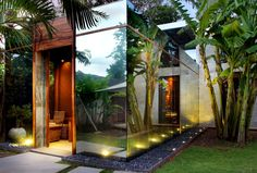Mirrored House by Toma Design in Bali. How amazing and I love the idea that you can see out and peer at nature Tropical Architecture, Space Architecture, Contemporary Architecture, Exterior Design, Interior And Exterior, Life Design, House Design, Mirror House, Modern Tropical