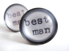 Unique BEST MAN Cufflinks using Real Vintage by JonTurner on Etsy, £18.00 Awesome Best Man Gift!