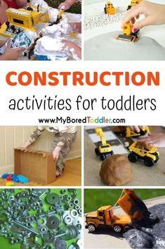 Construction Activities for Toddlers - Best Toys 4 Toddlers - Construction Activities for Toddlers Construction themed activities for toddlers - fun toddler construction play and activity ideas perfect for one, two and three year olds. Dinosaur Activities, Fun Activities For Toddlers, Gross Motor Activities, Educational Activities, Preschool Activities, Transportation Activities, Parenting Toddlers, Work Activities, Toddler Play