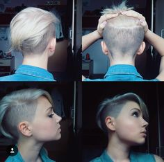 Blonde pixie/undercut