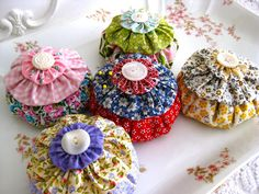 "I am ""sew"" excited about these sweet pincushions I have been working on for Christmas gifts and for my "" Sew Maryjane"" Etsy Shop! ..."