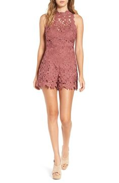 ASTR Open Back Lace Romper available at #Nordstrom If only this was a dress, it would be the perfect bridesmaid dress!