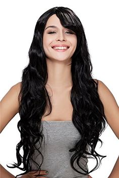 Diy-Wig New Fashion Black Long Curly Cosplay Party Synthe…