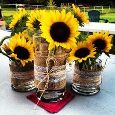 Stunning Sunflower Party Design Ideas For Your Wedding Reception Sunflower Birthday Parties, Sunflower Party, Sunflower Baby Showers, Wedding Table, Rustic Wedding, Wedding Ideas, Wedding Ceremony, Wedding Venues, Wedding Planning