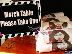 """Favor Table for Rock Star Party Photo 1 of 59: Rockstar Birthday / Birthday """"Jenna's 7th Birthday Tour"""" 
