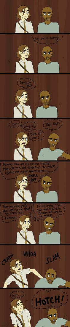 Criminal minds; Morgan and Reid! Hahahaha one of my favourite scenes I like the way they call for Hotch