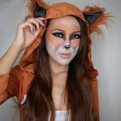 DIY Fox Make Up for #Halloween
