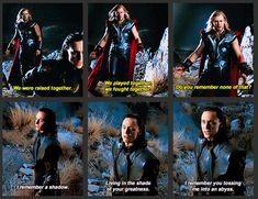 And this is why Thor + Loki breaks my heart. I wub wub my siblings much much, and when Loki says this to Thor, I imagine my sibling saying this to me... I imagine that that love is unreciprocated, that in their eyes there is only hatred and resentment.   ;_;