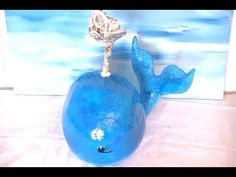 DIY Big Blue Paper Mache Whale with a Blow Hole - YouTube