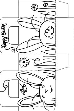 Easter Bunny Template Printable | Looking for a recycled basket to make? Then please visit Craft ...