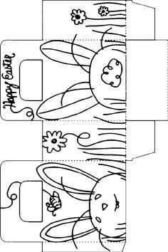 free printable easter bunny box template free printables and