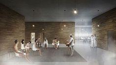 Keskustakirjaston toisen kerroksen pohjoispäätyyn on suunnitteilla kulttuurisauna lounge-tiloineen