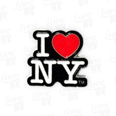 I LOVE NY Anstecknadel Pin Schwarz #Anstecker #Anstecknadel #I-LOVE-NY #Pin #NYC #NewYorkCity