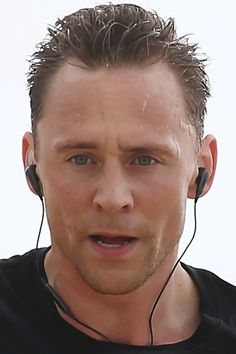 (GIF)-- I mean, who else could STILL look gorgeous while running?! Only Tom! ❤.
