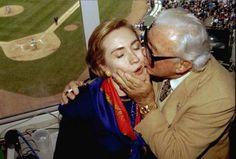 Hillary Clinton and Harry Carey
