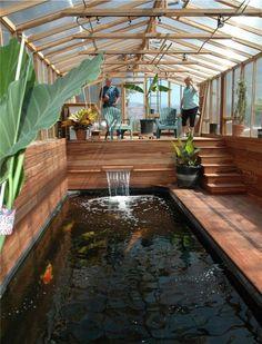 wintergarten-holz-selber-bauen-tipps-teich-koi-fische-holzboden-pflanzen
