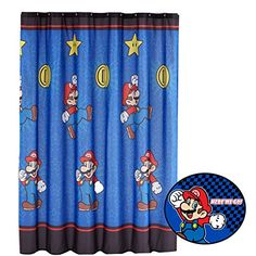 2pc Super Mario Brothers Shower Curtain and Bath Mat Set Nintendo Simply the Best Bathroom Accessories *** Want to know more, click on the image. (This is an Amazon Affiliate link and I receive a commission for the sales)