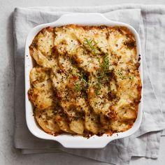 Potato-Leek Gratin | Williams Sonoma Potato Leek Gratin, Gratin Dish, Thanksgiving Recipes, Holiday Recipes, Thanksgiving 2020, Side Dish Recipes, Side Dishes, Yummy Recipes, Recipies