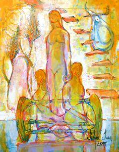 Una ilustración del Poemario dedicado a Gáldar.