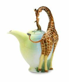 Beautiful Giraffe and baby tea pot