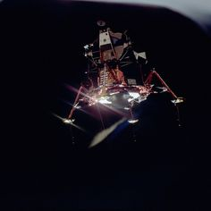 Apollo 11 Mission - View of Lunar Module separation from the Command Module