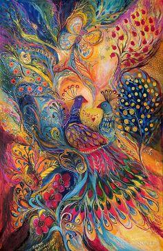 Peacock Art by Artist Elena Kotliarker. Psychedelic Art, Psy Art, Fractal Art, Love Art, Amazing Art, Awesome, Fantasy Art, Art Photography, Abstract Art