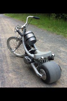 Pocketbike.. Das war mal eine Simson Schwalbe.. Dezent optimiert