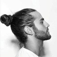 Japanese Male Hairstyles - Samurai Man Bun Hair