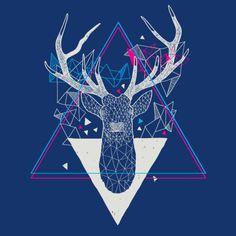 #graphic #design #deer #triangle #tattoo