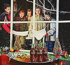 Coca Cola Christmas Caroling * Vintage Christmas Advertisement