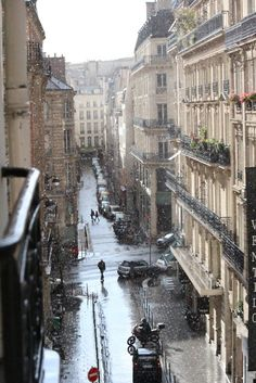 Raindrops, and life, suspended in motion. Paris, France. From The Clapping Walrus.