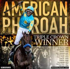 American Pharoah, 2015.  The first Triple Crown winner since 1978.