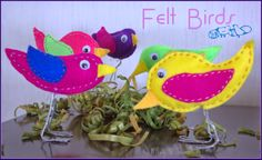This and that: Colourful Birds for Spring Decorating  love these cute, colorful little birds