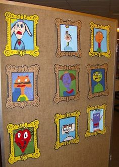 I love the frames. would be fun for picasso split portraits