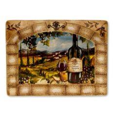 "Certified International Tuscan View 16"" X 12"" Rectangular Serving Platter"