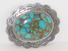 Vintage Native American Turquoise Brooch by VintageMaryEllen, $175.00